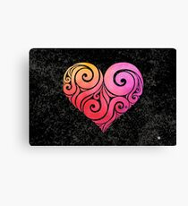 Swirly Heart Canvas Print