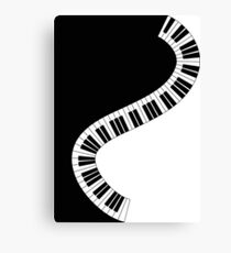 Musical Piano Keyboard Canvas Print