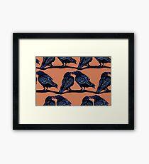 Orange Crows Framed Print