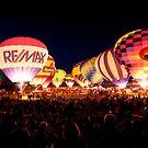 Yuma Arizona 26 Anual Balloon Festival Balloon Glow by barnsis