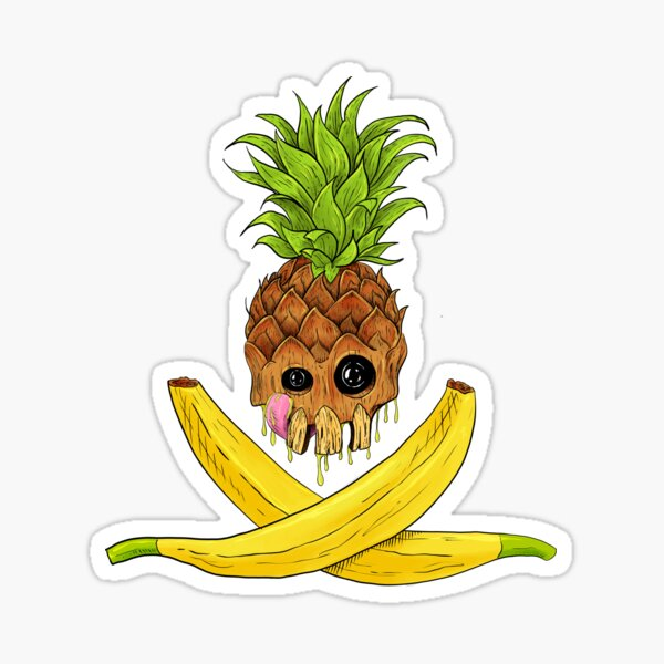 Fruits and Skulls Sticker