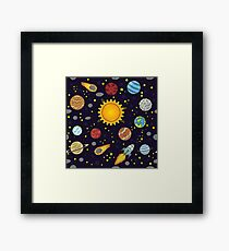 Magic School Bus Solar System Framed Print