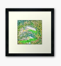 Beautiful landscape cave painting Framed Print