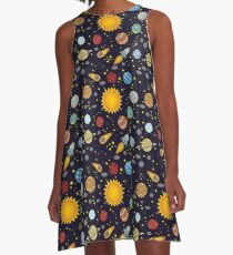 Magic School Bus Solar System A-Line Dress