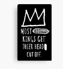 "Basquiat ""Young Kings"" Quote Canvas Print"