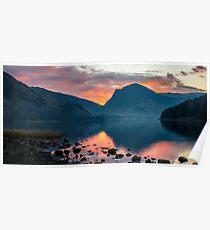 Fleetwith Pike Sunrise, Buttermere Poster