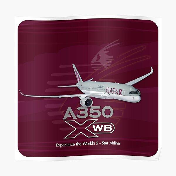 A350 QATAR  Poster