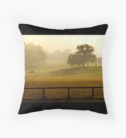 Good morning sunrise Throw Pillow