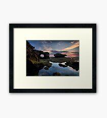 Eroded Sandstone Sunset Framed Print
