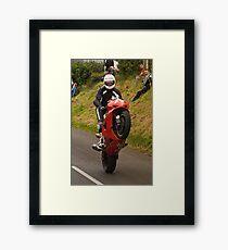 Red Wheelie Framed Print