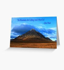 Buachaille and John Muir Greeting Card