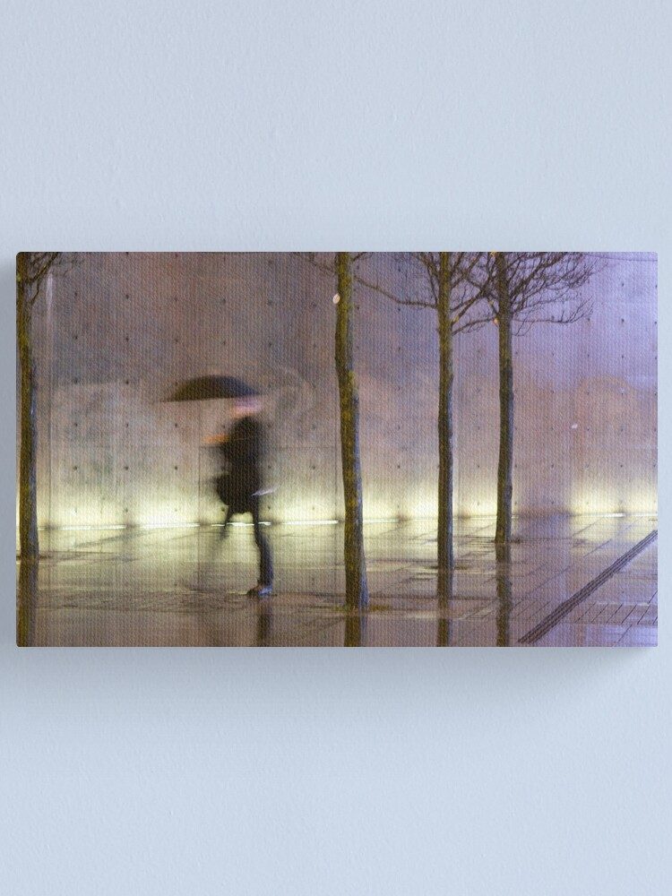 Alternate view of Passage of time in a concrete jungle  Canvas Print