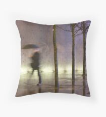 Passage of time in a concrete jungle  Throw Pillow