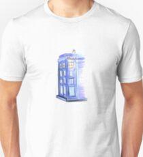 Doctor Who Tardis Watercolor art for Geek/ Nerd Unisex T-Shirt