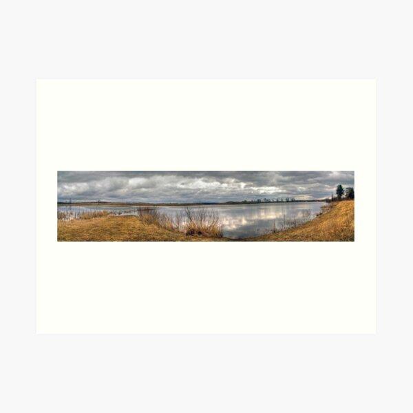 Wetland Cloudscape Art Print