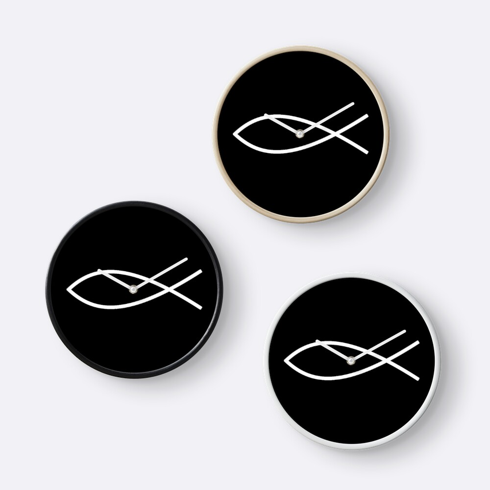 Ichthus jesus christ christianity fish secret christian ichthus jesus christ christianity fish secret christian symbol ichthys sign of the fish white on black biocorpaavc Image collections