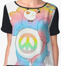 care bear hippie care bears hippie carebears carebear (remember RECYCLE all packaging it comes in) Women's Chiffon Top