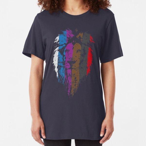 BJJ Belt Rank Lion Face for Jiu Jitsu Slim Fit T-Shirt