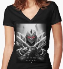 League of Legends Zed  Women's Fitted V-Neck T-Shirt