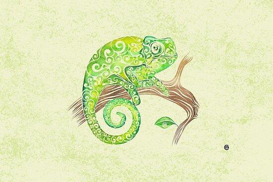 Swirly Chameleon by . VectorInk