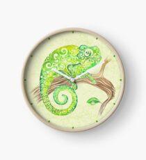 Swirly Chameleon Clock