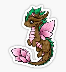 Flower Dragon Elemental Sticker