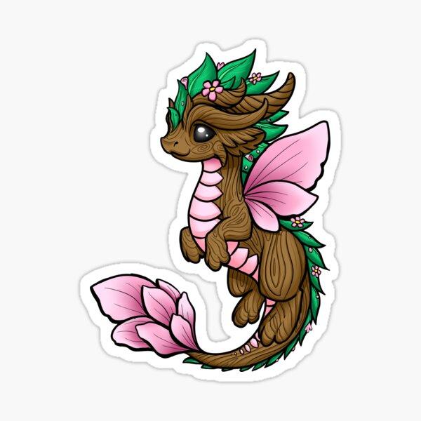 Flower Dragon Elemental Sticker
