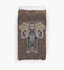 Ganesha With Bobbin Lace Background Duvet Cover