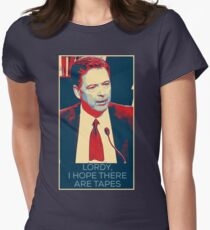 """Lordy, I hope there are tapes"" - James Comey  Women's Fitted T-Shirt"