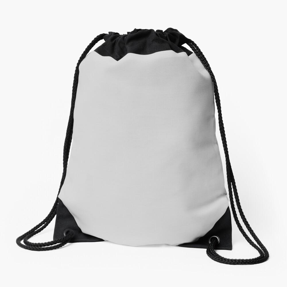 Beautiful Cushions/ Plain Light Grey Drawstring Bag