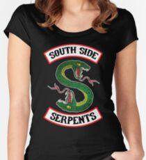 South Side Serpents (Jacket version) Women's Fitted Scoop T-Shirt