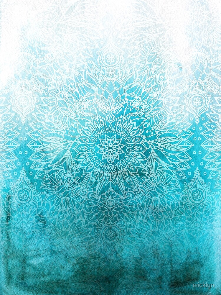 Fade to Teal - watercolor + doodle by micklyn