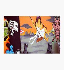 Dont touch me - Urban Graffiti at Bondi Photographic Print