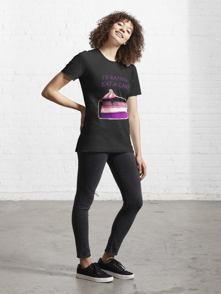 Alternate view of Asexual Cake Essential T-Shirt