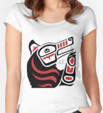 Mahikan: Wolf Women's Fitted Scoop T-Shirt