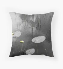 Lily Pads in Pond Throw Pillow