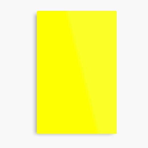 Neon fluorescent Yellow | Yellow|neon Yellow/Fluro Yellow Metal Print