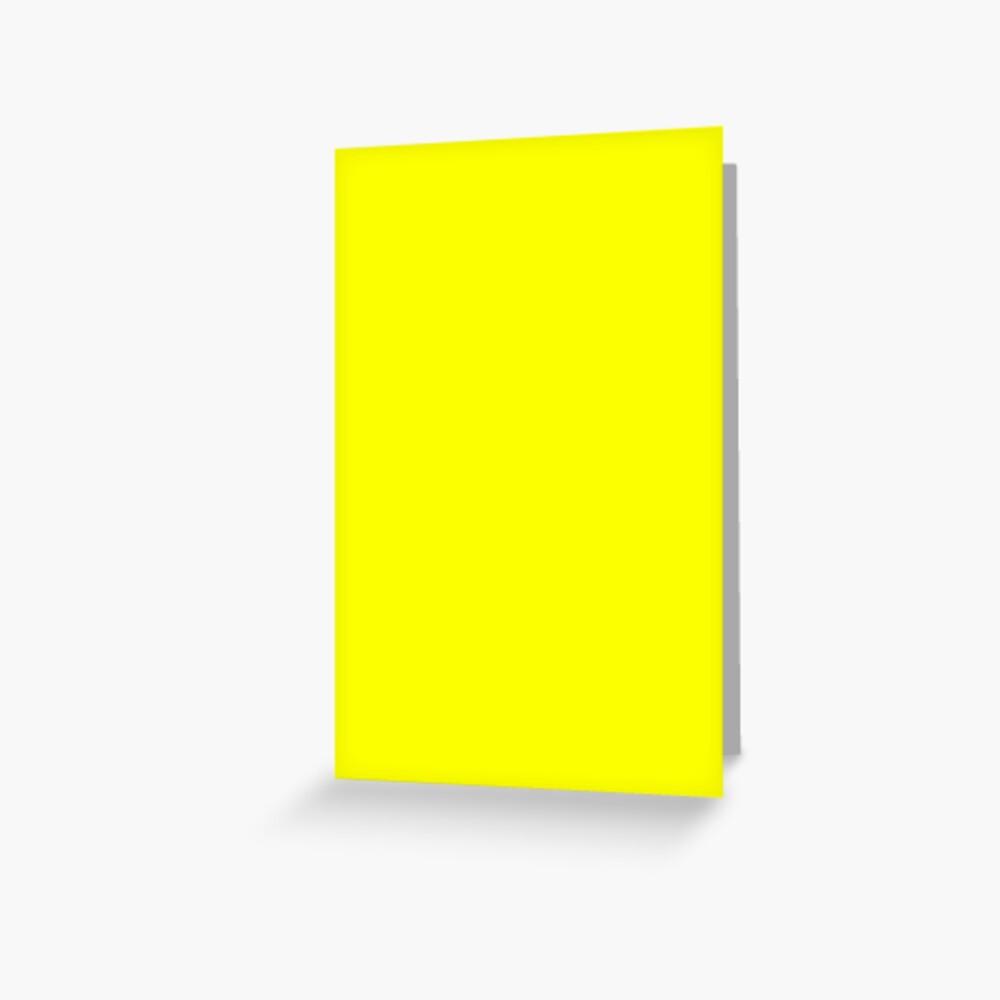 Neon fluorescent Yellow | Yellow|neon Yellow/Fluro Yellow Greeting Card