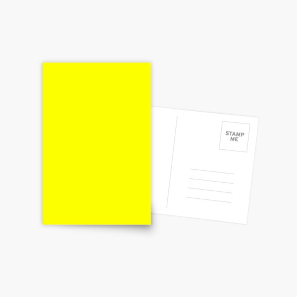Neon fluorescent Yellow | Yellow|neon Yellow/Fluro Yellow Postcard