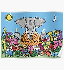 Drittes Auge Elefant Poster