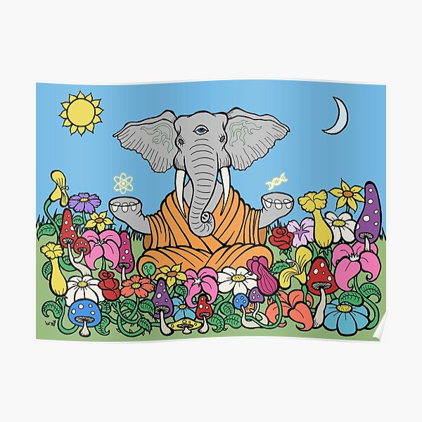 Third Eye Elephant Poster
