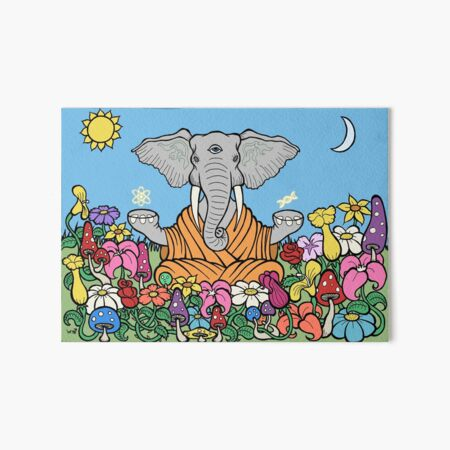 Third Eye Elephant Art Board Print