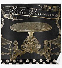 Bistro Parisienne Gold Poster