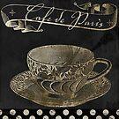 Bistro Parisienne Cafe Paris Gold by mindydidit