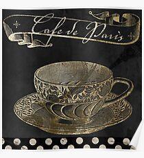 Bistro Parisienne Cafe Paris Gold Poster