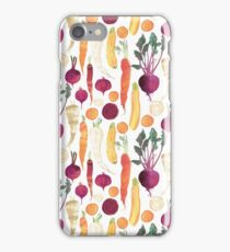 Autumn Vegetables Pattern on White background iPhone Case/Skin