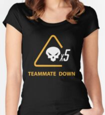 mercy team mate down Women's Fitted Scoop T-Shirt