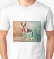 Portrait of Meryl the Boston Terrier Unisex T-Shirt
