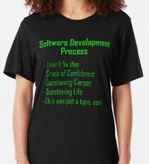 Software Development Humour - Green Design Slim Fit T-Shirt