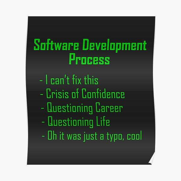 Software Development Humour - Green Design Poster